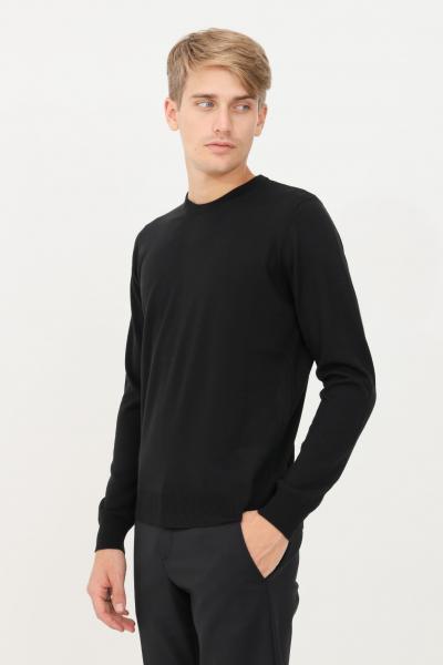 BIKKEMBERGS Maglioncino uomo nero bikkembergs modello girocollo con banda logo a contrasto sul retro  T-shirt   CS22G10X0046C74