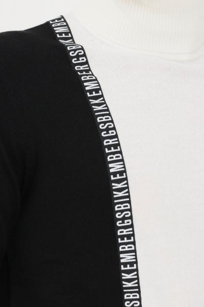BIKKEMBERGS Maglioncino uomo bianco nero bikkembergs a collo alto  T-shirt   CSD4090X11484030