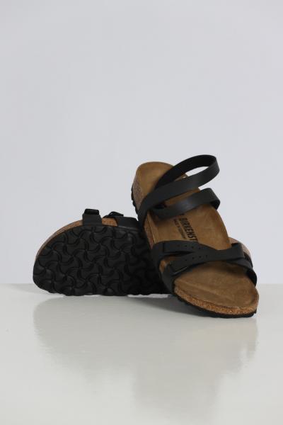 BIRKENSTOCK Ciabatta donna nero birkenstock con cinturino alla caviglia e bande regolabili  Sandali | 1015840BLACK