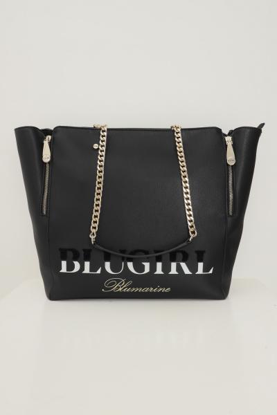 BLUMARINE Shopper donna nero blumarine regolabile con zip laterali  Borse | 713B4BD1ZG048899