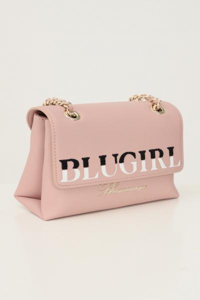 BLUMARINE Borsa donna rosa blumarine con tracolla in tessuto e catena  Borse | 713B4BD4ZG048409