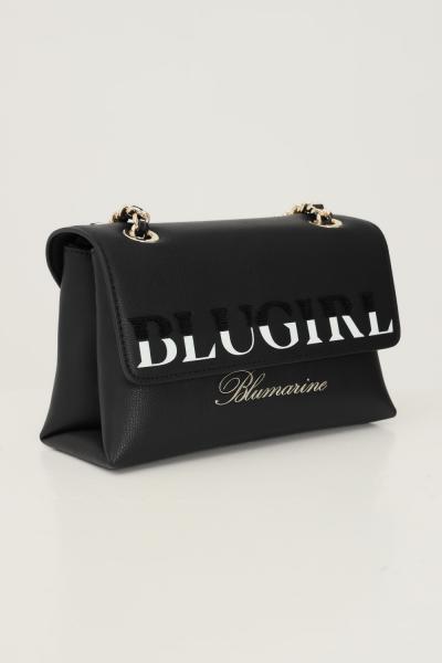 BLUMARINE Borsa donna nero blumarine con tracolla in tessuto e catena  Borse | 713B4BD4ZG048899