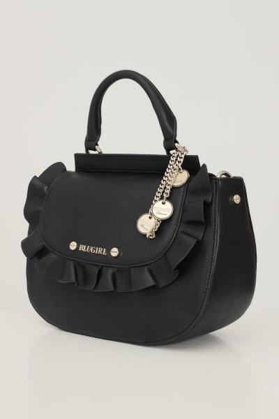 BLUMARINE Borsa donna nero blumarine con tracolla removibile in tessuto e catena  Borse | 713B4BQ2ZG051899