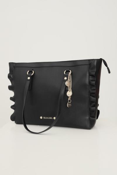 BLUMARINE Shopper donna nero blumarine con rouches laterali  Borse | 713B4BQ6ZG051899