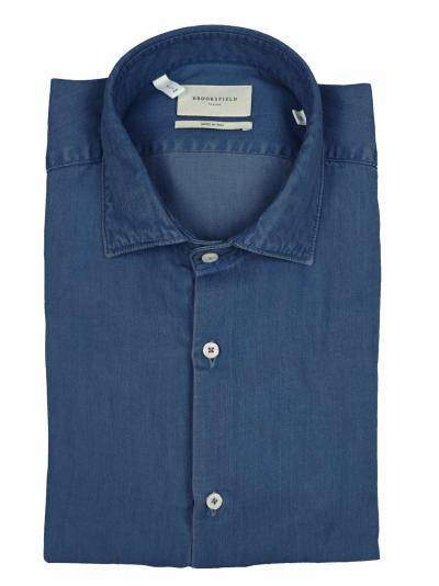BROOKSFIELD Camicia slim fit, collo francese, indigo  Camicie | 202A.T094V0032