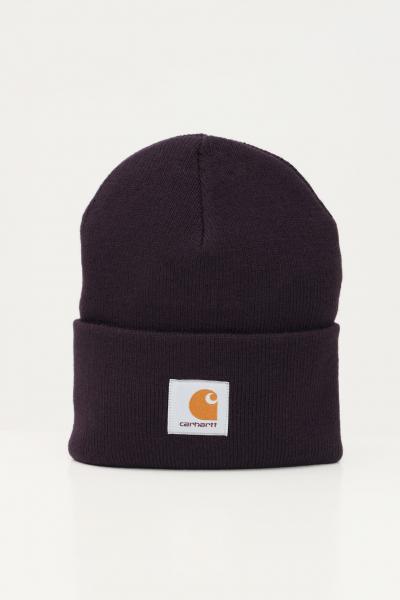 Cappello unisex viola con logo frontale  Cappelli | I020222.060EO.XX