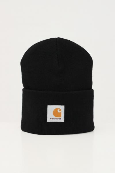 Cappello unisex nero con logo frontale  Cappelli | I020222.0689.XX