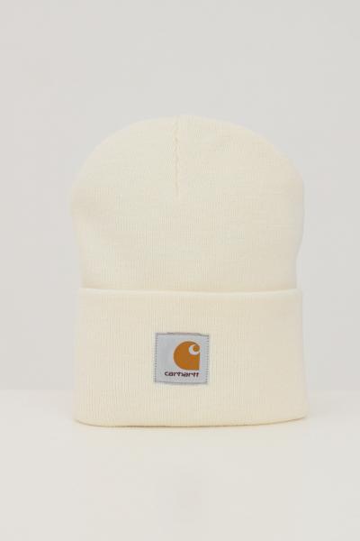 Cappello unisex panna con logo frontale  Cappelli | I020222.06D6.XX