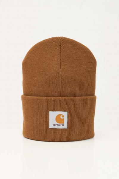 Cappello unisex cammello con logo frontale  Cappelli | I020222.06HZ.XX