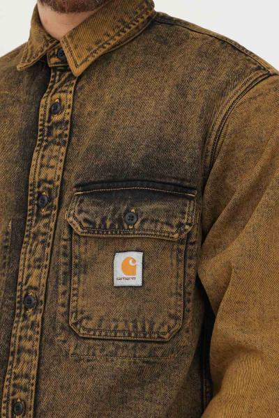 CARHARTT Camicia uomo giallo antico carhartt con tasca frontale  Camicie | I029155.030EP.ZF