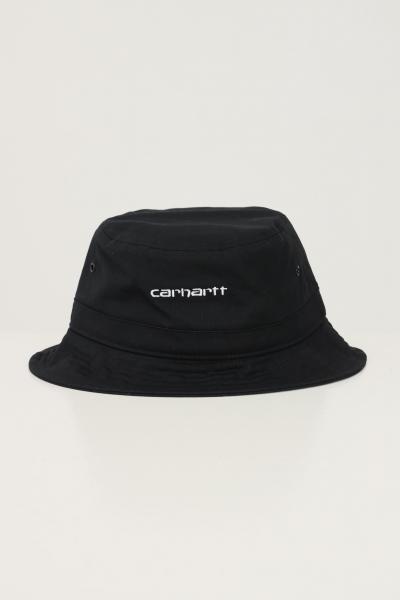 CARHARTT Cappello unisex nero carhartt modello bucket con logo ricamato a contrasto  Cappelli | I029937.040D2.XX