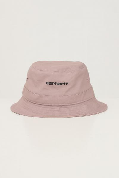 CARHARTT Cappello unisex rosa carhartt modello bucket con logo ricamato a contrasto  Cappelli | I029937.040J7.XX
