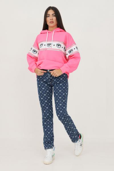 CHIARA FERRAGNI Jeans da donna chiara ferragni con logo eyelike allover  Jeans | 71CBB5R0DS001S00904