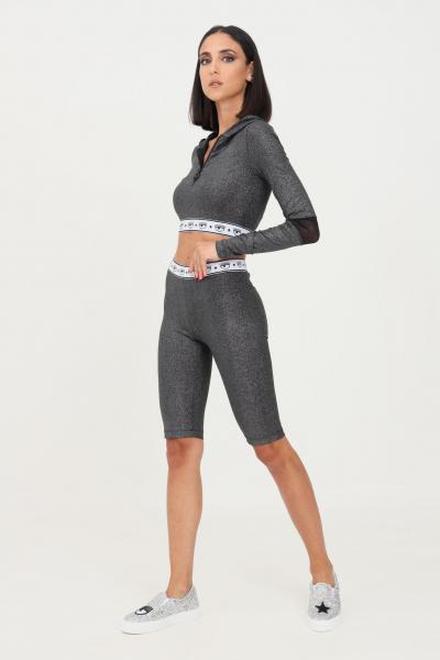 CHIARA FERRAGNI Ciclista donna nero chiara ferragni con glitter.  Shorts   71CBD190J0017899