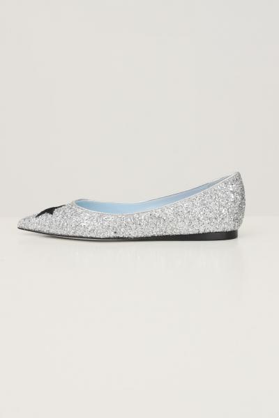 CHIARA FERRAGNI Ballerine donna Chiara Ferragni Eyestar Silver  scarpe | CF2871004