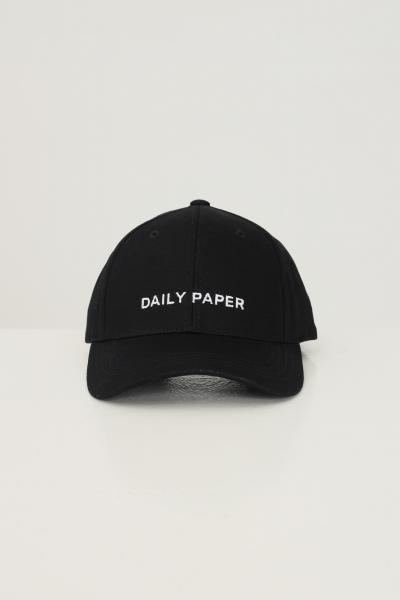 DAILY PAPER Berretto unisex nero daily paper con ricamo logo frontale  Cappelli | 2111051BLACK
