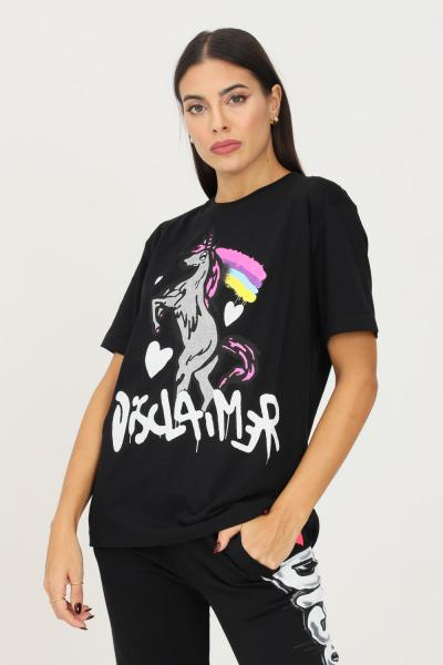 DISCLAIMER T-shirt donna nero disclaimer a manica corta con maxi stampa frontale  T-shirt   21IDS50896NERO