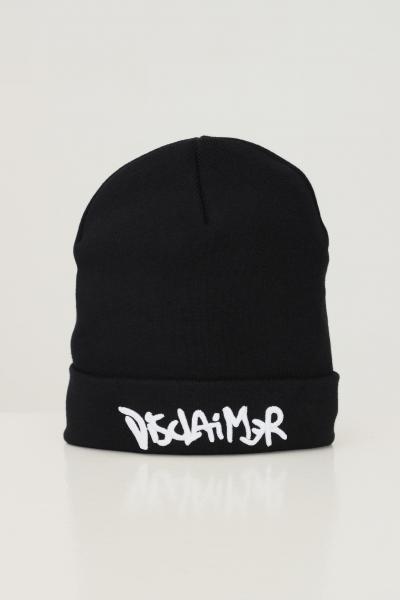 DISCLAIMER Cappello unisex nero disclaimer con maxi ricamo logo frontale a contrasto  Cappelli   21IDS50920NERO
