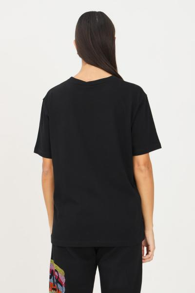 DISCLAIMER T-shirt donna nero disclaimer con strass multicolor sul davanti  T-shirt   21IDS50934NERO