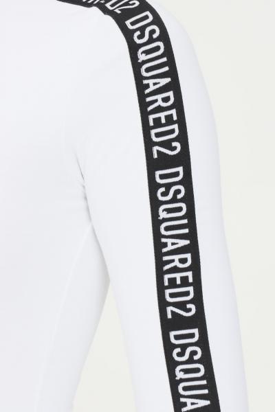 DSQUARED2 Body bianco donna dsquared2 con bande logate  Body | D8F113720110