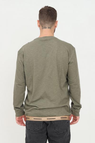 Maglioncino unisex verde con taschino frontale e banda elastica logata sul fondo  T-shirt | D9M173800302