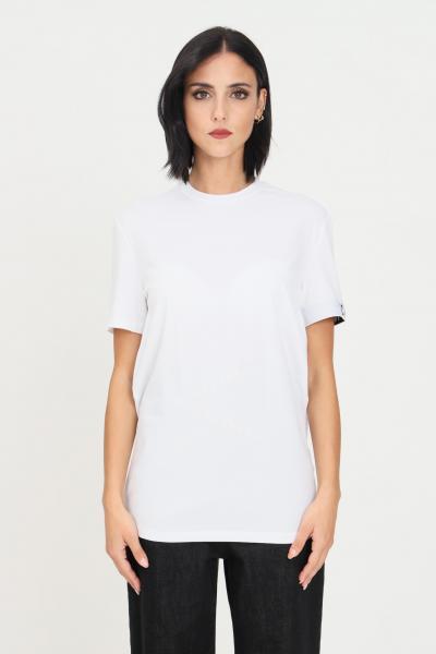 DSQUARED2 T-shirt unisex bianco dsqaured2 a manica corta con banda elastica icon sulla manica  T-shirt | D9M3S3590100