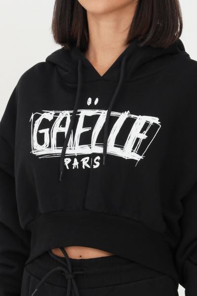 GAELLE Felpa donna nero gaelle con cappuccio e stampa logo frontale  Felpe   GBD10143NERO