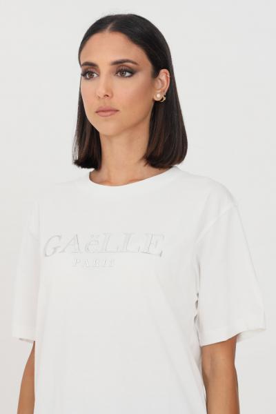 GAELLE T-shirt donna bianco gaelle a manica corta con logo frontale  T-shirt   GBD10158BIANCO