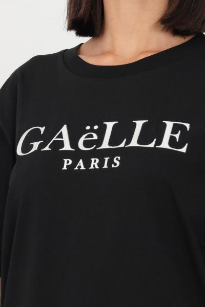 GAELLE T-shirt donna nero gaelle a manica corta con logo frontale  T-shirt   GBD10158NERO