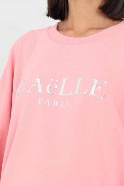 GAELLE Felpa donna rosa gaelle girocollo con manica ampia  Felpe   GBD10160ROSA