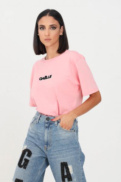 GAELLE T-shirt donna rosa gaelle a manica corta con logo frontale  T-shirt   GBD10220ROSA