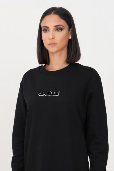 GAELLE Abito donna nero gaelle corto con logo frontale a rilievo  Abiti   GBD10221NERO