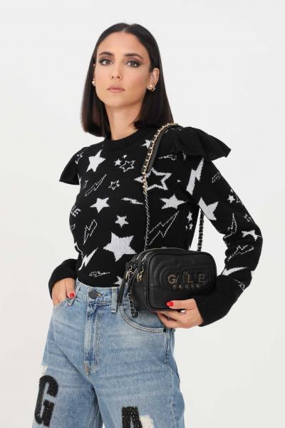 GAELLE Maglioncino donna nero gaelle paris con spalline  T-shirt   GBD10334NERO
