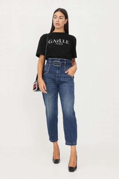 GAELLE Jeans donna gaelle a vita alta con cintura in vita  Jeans | GBD10435BLU