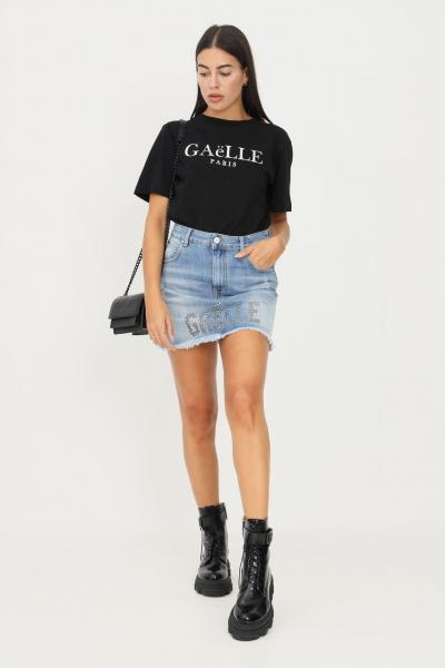 GAELLE Gonna in denim chiaro by gaelle con applicazione borchiette  Gonne   GBD10469BLU