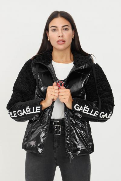 GAELLE Piumino donna nero gaelle con zip frontale  Giubbotti   GBD9730NERO