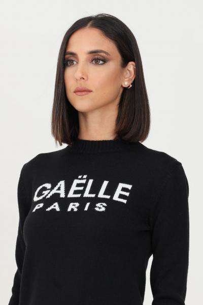 GAELLE Maglioncino donna gaelle a girocollo con logo a contrasto  T-shirt   GBD9800NERO