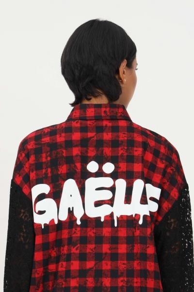 GAELLE Abito camicia rosso gaelle con stampa quadri  Abiti   GBD9958ROSSO