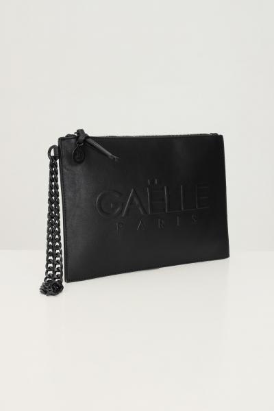 GAELLE Pochette donna nero gaelle con logo frontale tono su tono  Borse | GBDA2651NERO