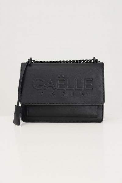 GAELLE Borsa donna nero gaelle in ecopelle con logo in rilievo  Borse | GBDA2654NERO