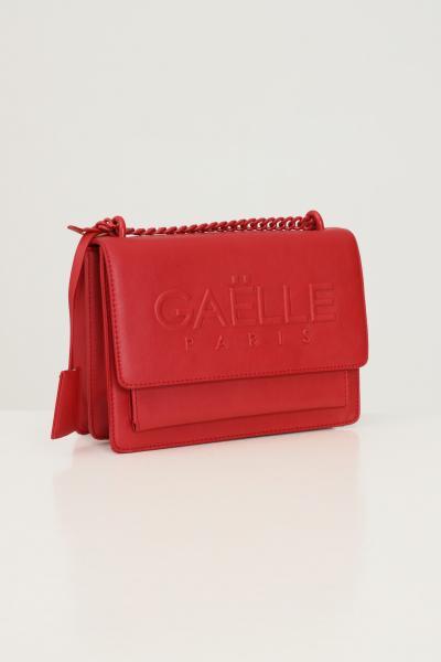 GAELLE Borsa donna rosso gaelle in ecopelle con logo in rilievo  Borse | GBDA2654ROSSO