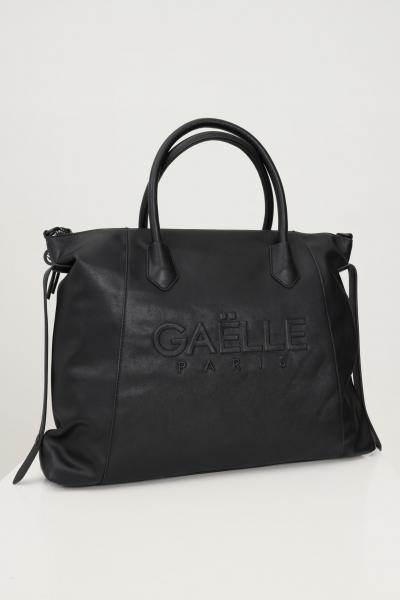 GAELLE Shopper donna nero gaelle con manici e tracolla removibile  Borse | GBDA2661NERO