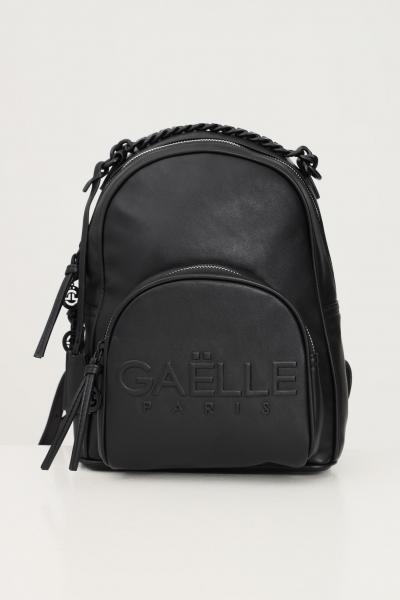GAELLE Zaino donna nero gaelle con logo frontale in rilievo e manico in catena  Zaini | GBDA2662NERO
