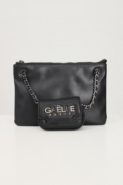 GAELLE Pochette donna nero gaelle con tracolla e applicazione mini bag  Borse | GBDA2691NERO