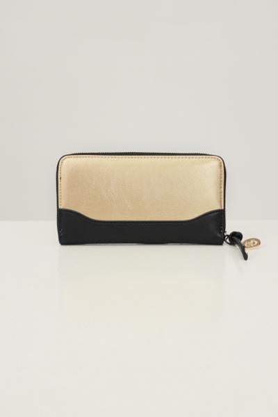 GAELLE Portafogli donna oro nero gaelle con applicazione logo frontale  Portafogli | GBDA2703NERO/ORO