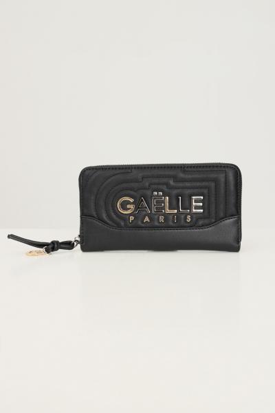 GAELLE Portafogli donna nero gaelle con applicazione logo frontale  Portafogli | GBDA2703NERO