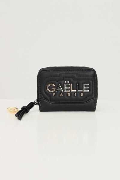 GAELLE Mini portafoglio donna nero gaelle con applicazione logo frontale  Portafogli | GBDA2704NERO