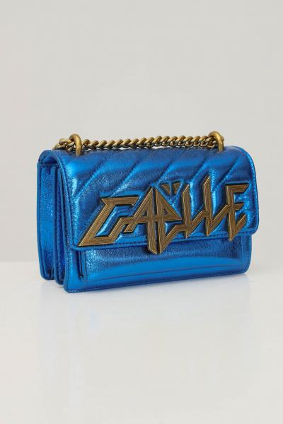 GAELLE Borsa donna blu gaelle con tracolla in catena e tessuto  Borse | GBDA2762ROYAL