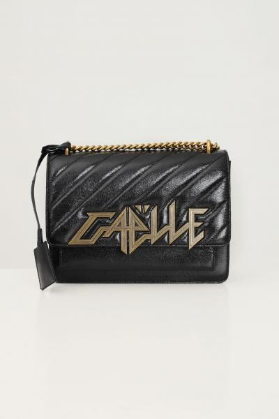 GAELLE Borsa donna nero gaelle con applicazione maxi logo oro  Borse | GBDA2764NERO