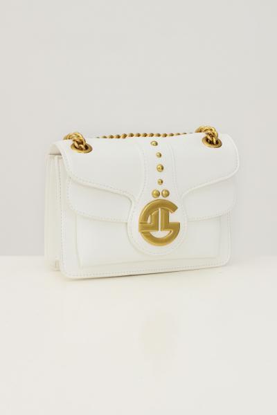 GAELLE Borsa donna bianco gaelle con tracolla e applicazione logo oro  Borse | GBDA2841BIANCO